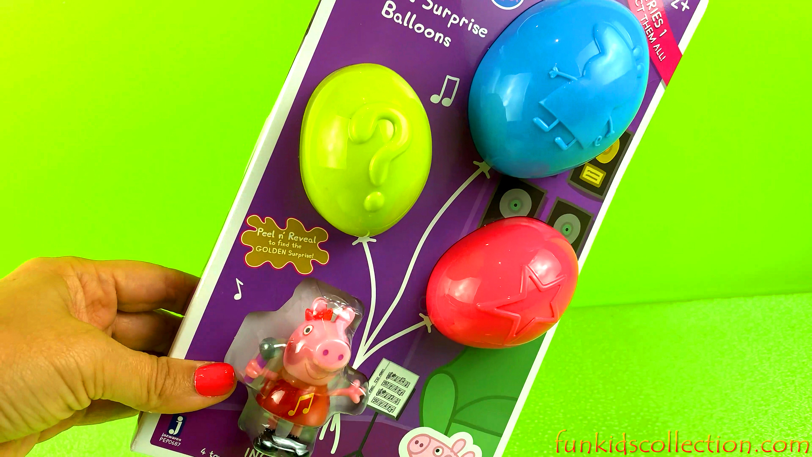 Peppa Pig Surprise Balloons Series 1 Music | Peppa Pig Peal n' Reveal the Golden Surprise