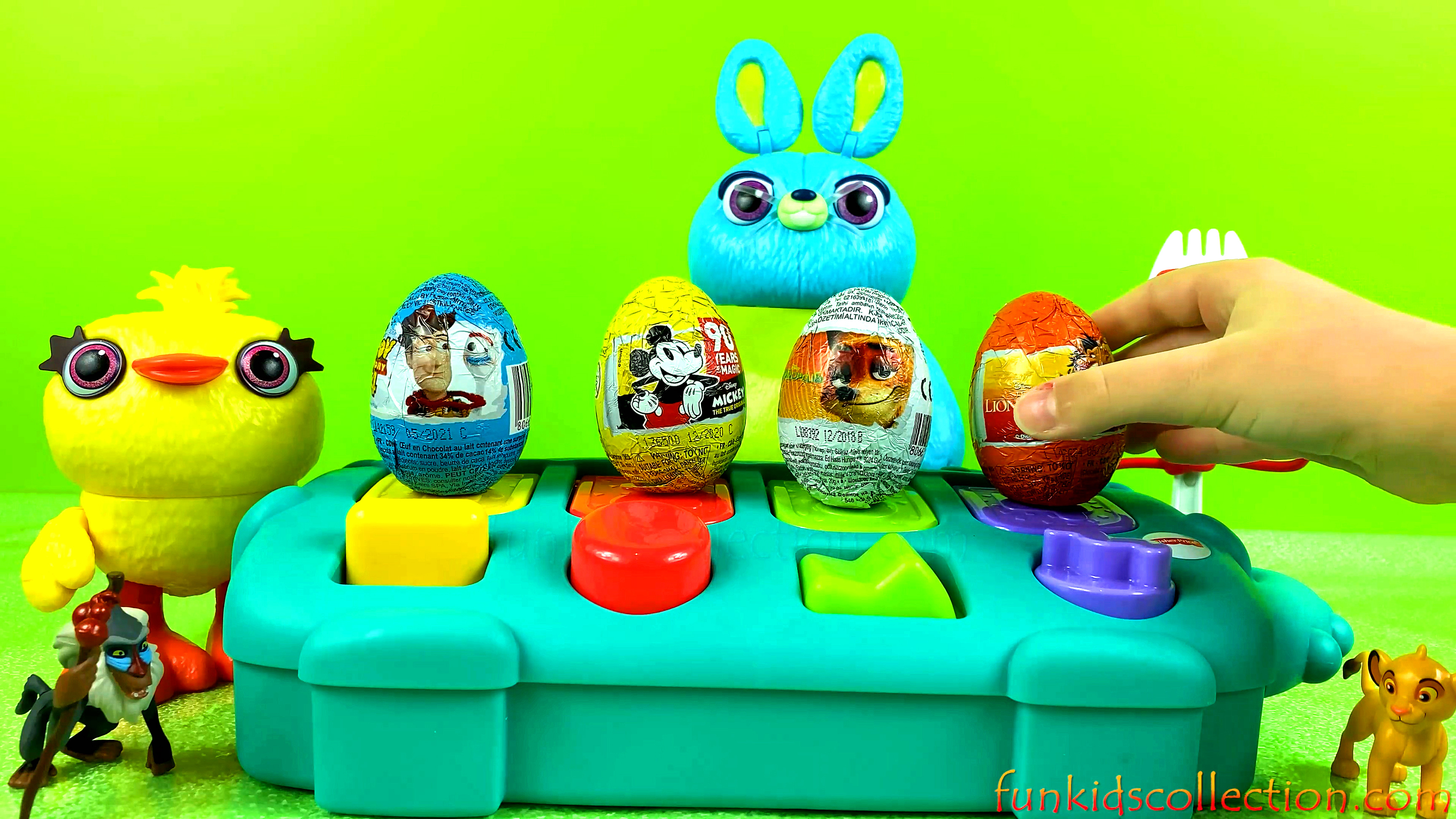 Pop Up Animals Egg Surprises Zaini | Lion King Egg Surprise Toy Story 4 Egg Surprise Mickey Egg Surp