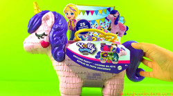 Polly Pocket Unicorn Party | Polly Pocket Showcase | Big Unicorn Party Piñata | EBD Toys