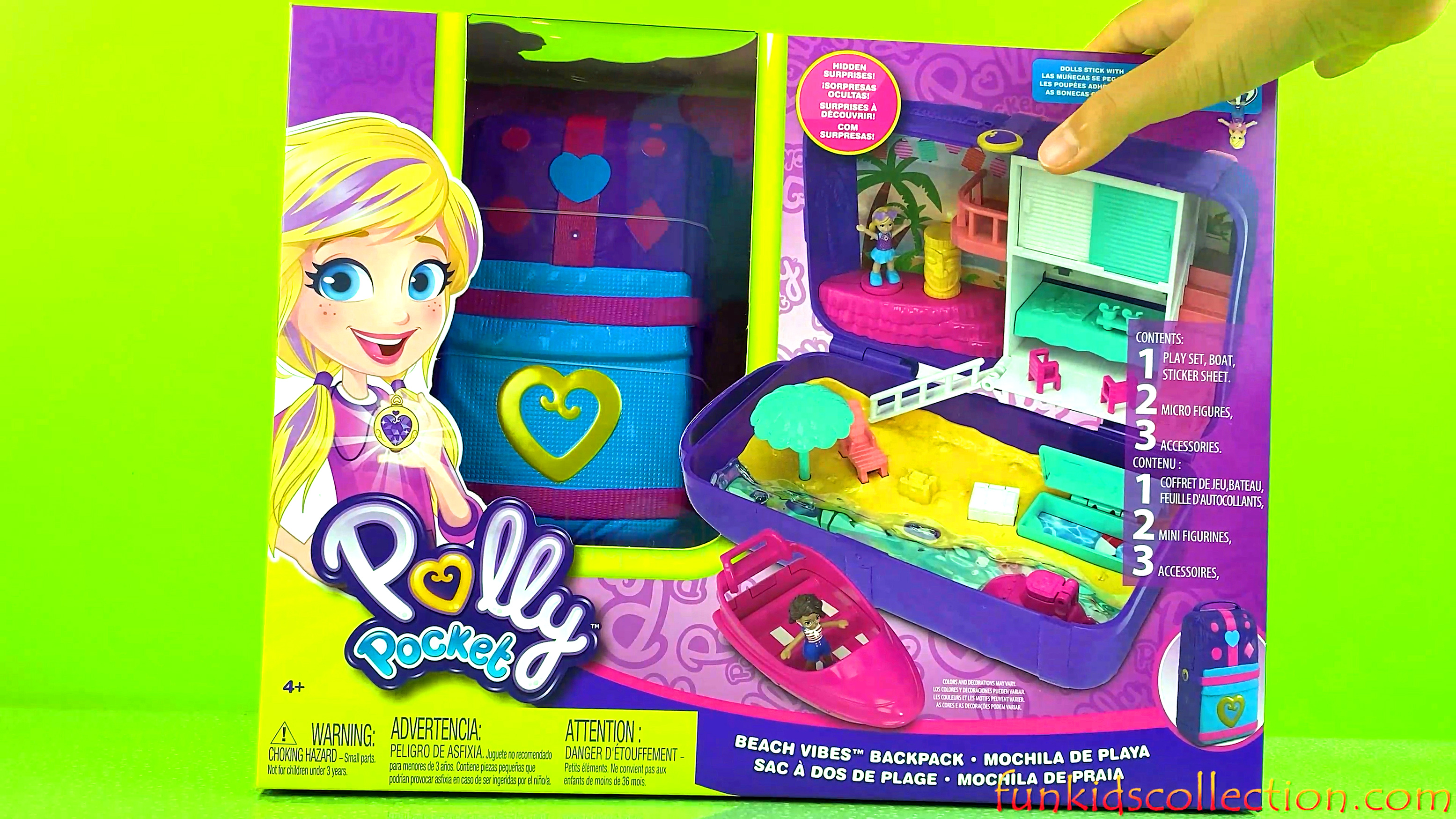 Polly Pocket Toys | Polly Pocket Beach Vibes Backpack Playset | EBD Toys - funkidscollection.com