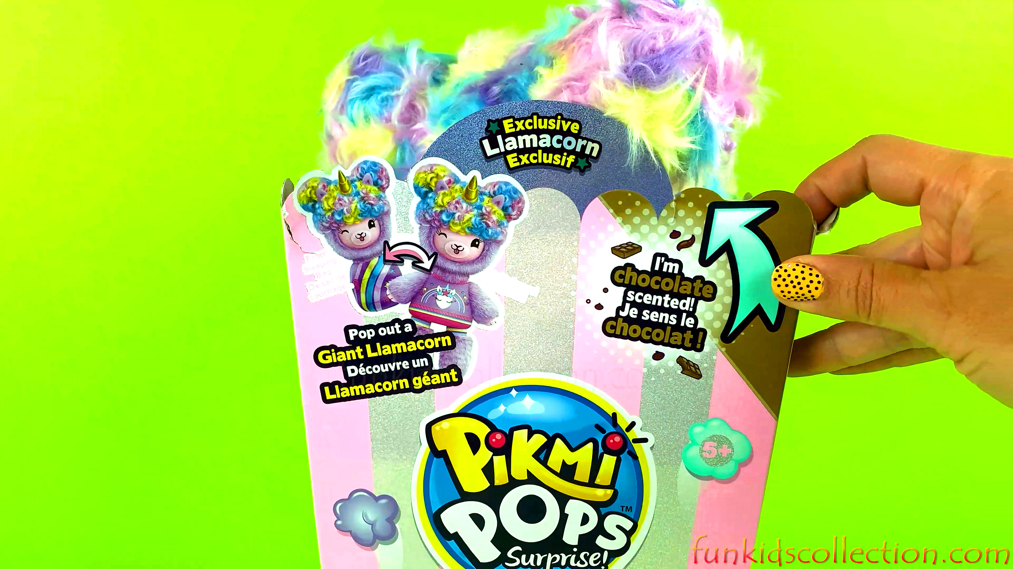Pikmi Pops Surprise Giant Llamacorn | Pajama Llama Popcorn Series | Slumber Party Surprises Yuni