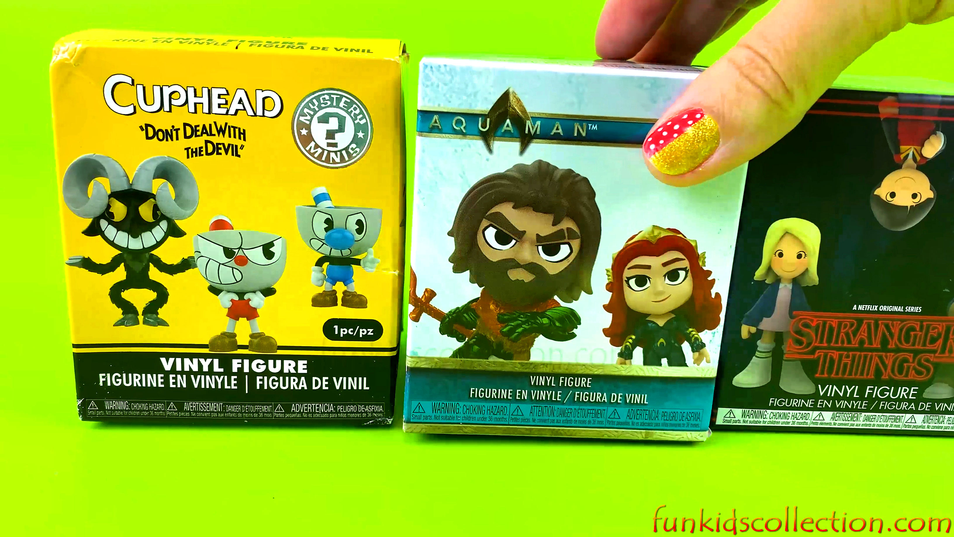 Unboxing Blind Boxes CupHead Vinyl Figure Aquaman Mystery Minis Stranger Things Vinyl Figure