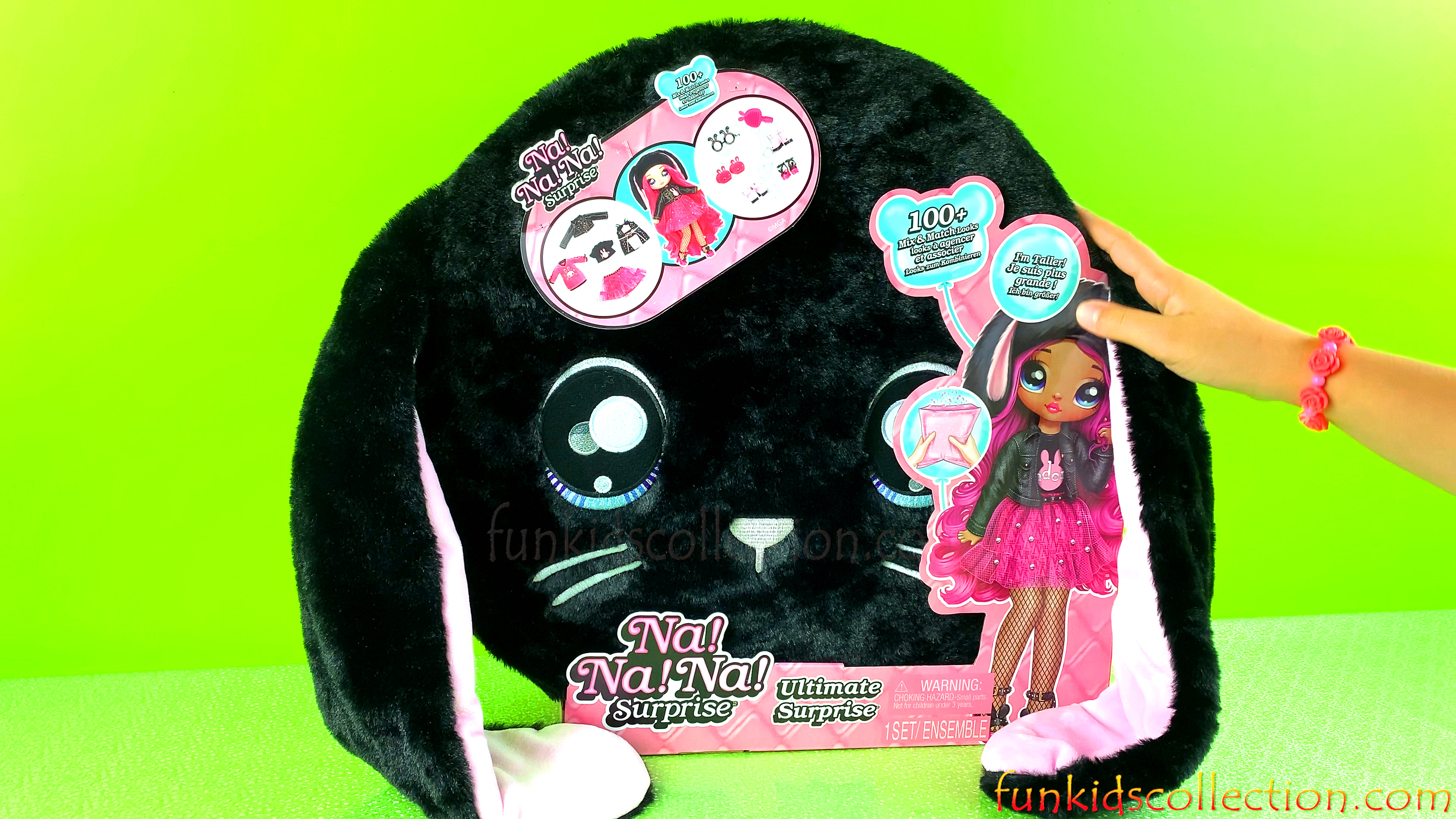 Na Na Na Surprise Doll in a Black Bunny Plush Suitcase | Na Na Na Surprise Ultimate Doll | EBD Toys