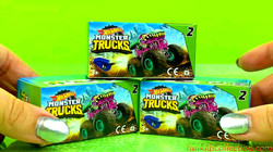 Unboxing Monster Trucks Hot Wheels | Unboxing Monster Trucks Shark Wreak Milk Monster Hissy Fit