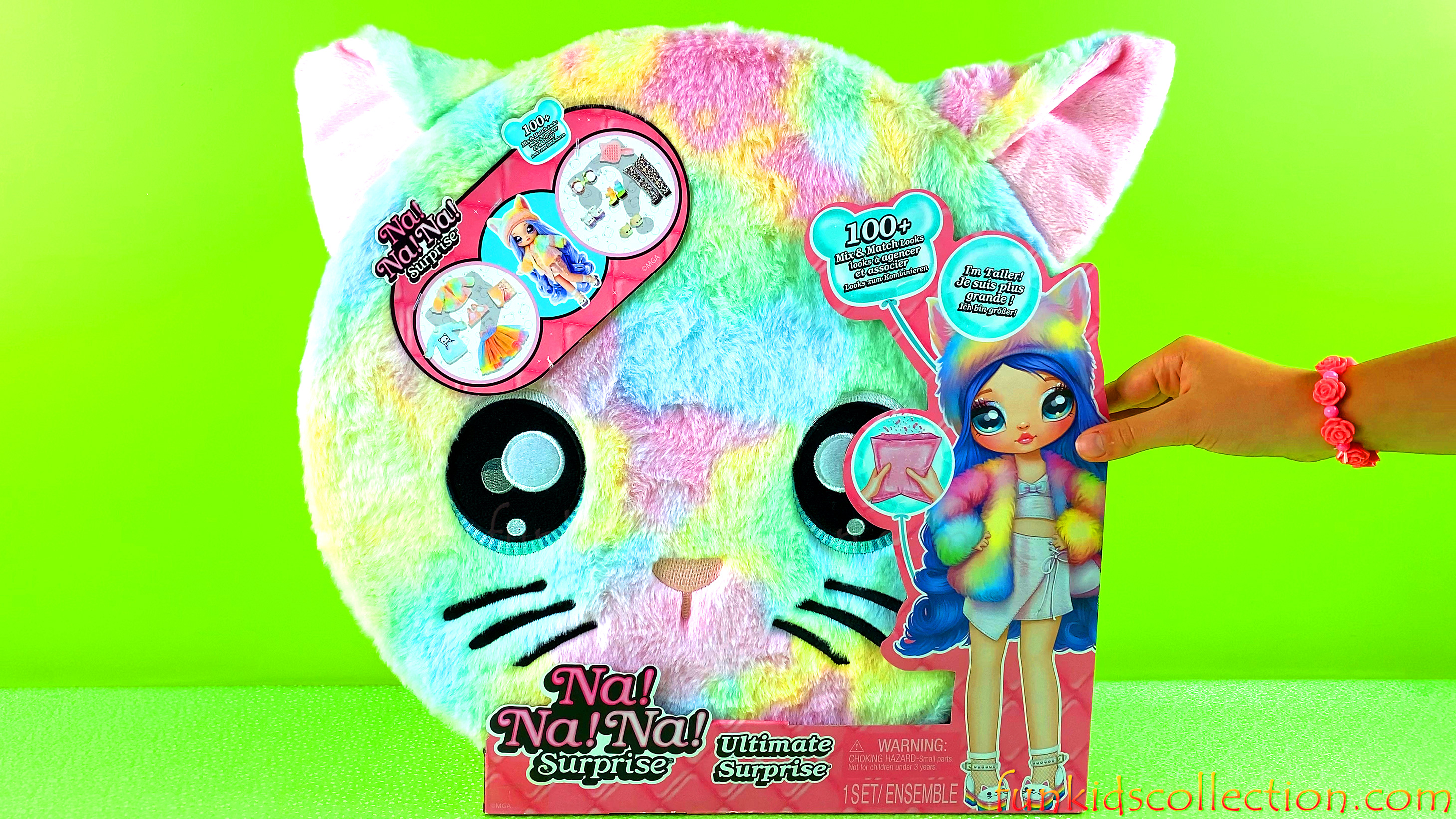 Na Na Na Surprise Doll in Rainbow Bunny Plush Suitcase | Na Na Na Surprise Ultimate Doll | EBD Toys