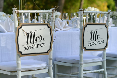 Mrs. Bride, Mr. Groom