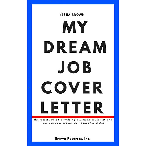 Digital Guide-My Dream Job Cover Letter