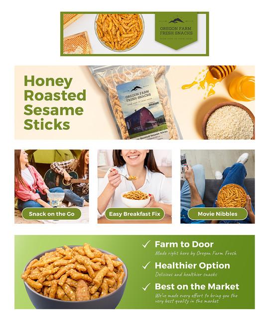 Honey Roasted Sesame Sticks A+