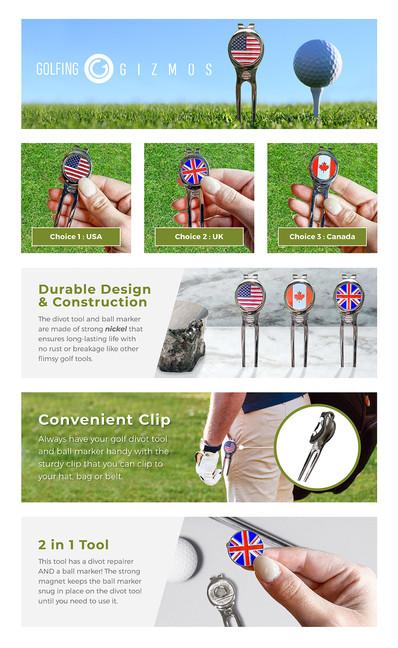 Golf Divot Repair Tool A+