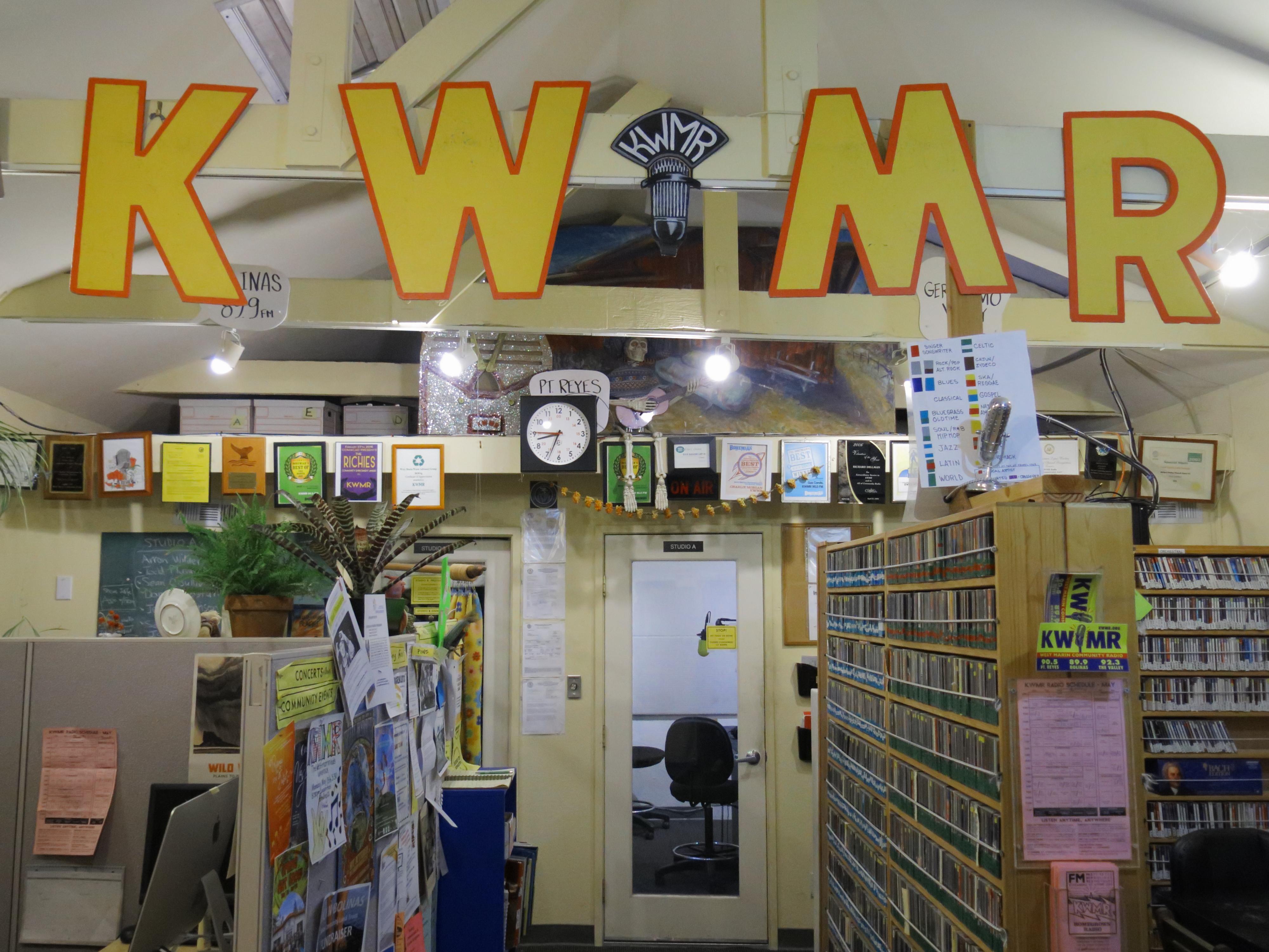 KWMR studio, Pt. Reyes Station, CA