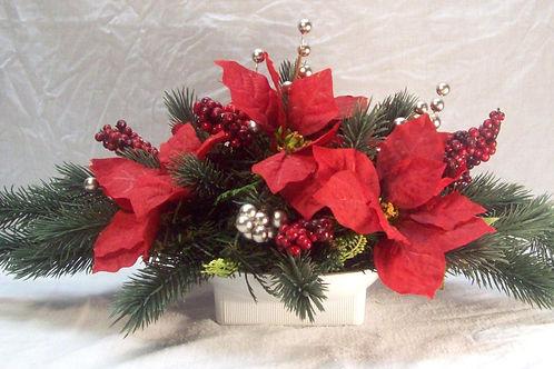 Red Poinsettia Arrangement