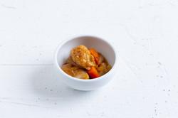 ニンジンとタマネギの酢鶏