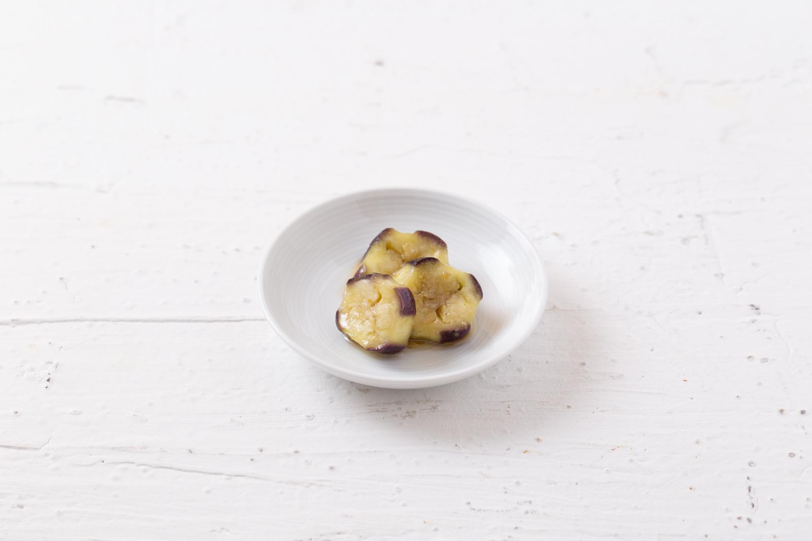 蒸しなすの柚子胡椒マリネ