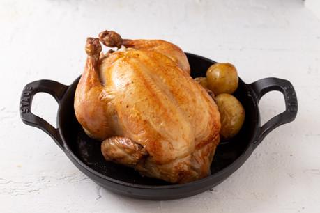 丸鶏のロースト③