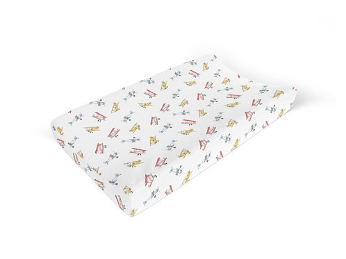 Vintage Airplane - Changing Pad Cover