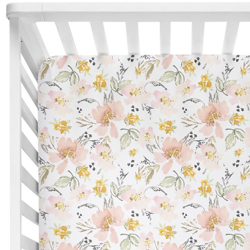 Kennedy Vintage Floral - Crib Sheet