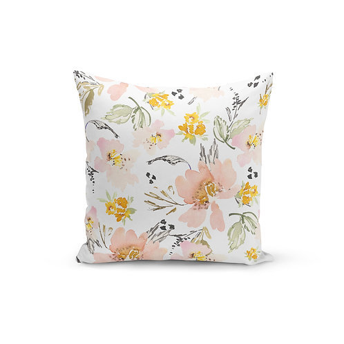 Kennedy Vintage Floral - Throw Pillow Cover