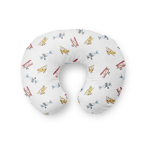 Vintage Airplane - Nursing Pillow Cover