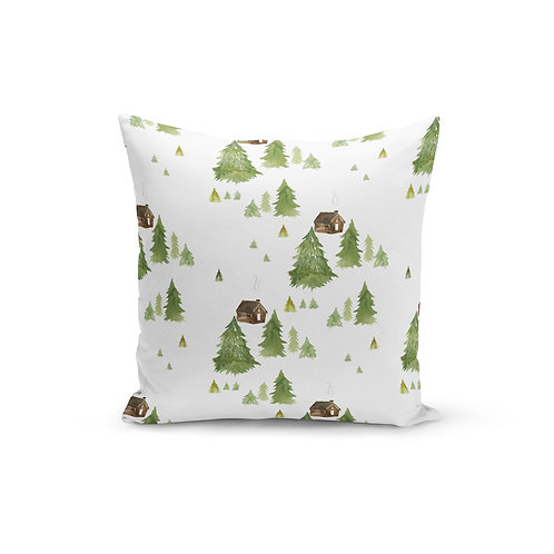 Little Lodge - Throw Pillow Cover