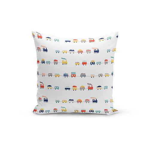 Happy Little Train - Throw Pillow Cover