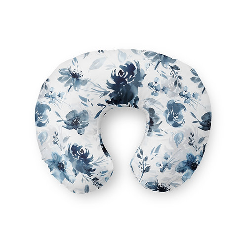 Moody Blue Floral - Nursing Pillow Cover