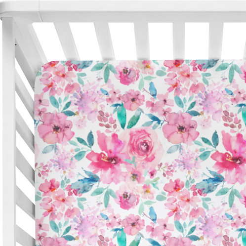 Pink Cordelia - Crib Sheet