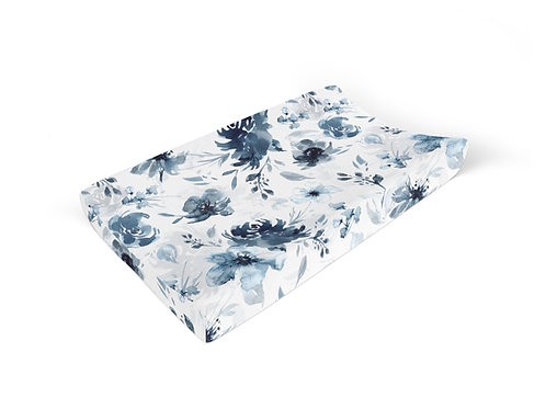 Moody Blue Floral - Changing Pad Cover