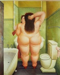 El baño, 1989_oleo sobre lienzo