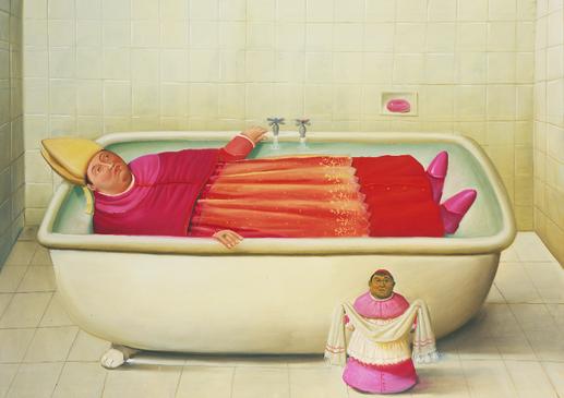 El baño del Vaticano, 2006_oleo sobre lienzo