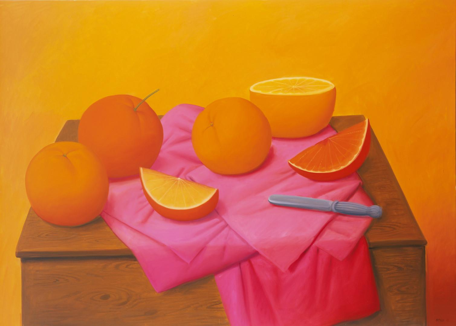 Naranjas, 2008_oleo sobre lienzo