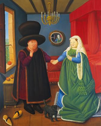 The Arnolfini según Van Eyck, 2006_oleo sobre lienzo