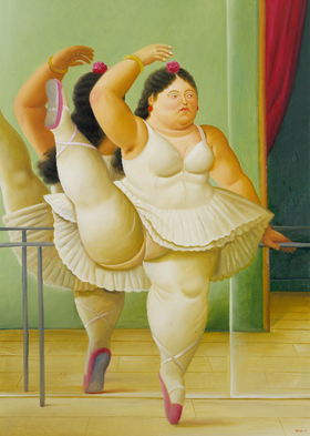Bailarina en la barra, 2001_oleo sobre lienzo