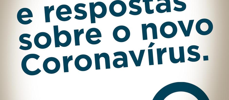 PERGUNTAS E RESPOSTAS SOBRE  NOVO  CORONAVÍRUS