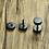 Thumbnail: Beardz.Store Stainless Steel Barbell Earrings Matt Black