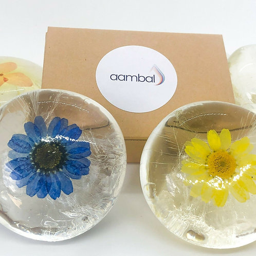 Aambal Gift Soap Set of 2 x100g - Flower Soap
