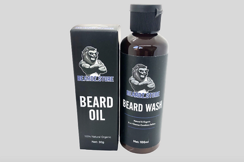 Beard Oil & Beard Wash By Beardz.Store   30ml Beard Oil & 100ml Beard Shampoo.