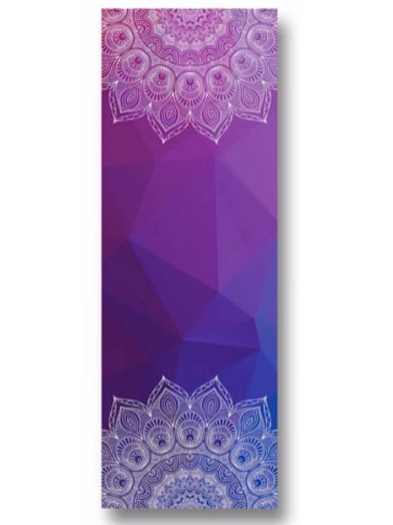 Meditation Mat / Yoga Mat Towel/Covering - Purple/Blue Mandala Design