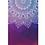 Thumbnail: Meditation Mat / Yoga Mat Towel/Covering - Red/Blue Mandala Design