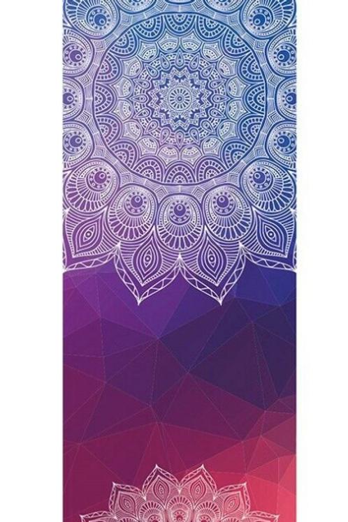 Meditation Mat / Yoga Mat Towel/Covering - Red/Blue Mandala Design