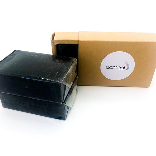 aambal Activated Charcoal Soap Set of 3 x 100g