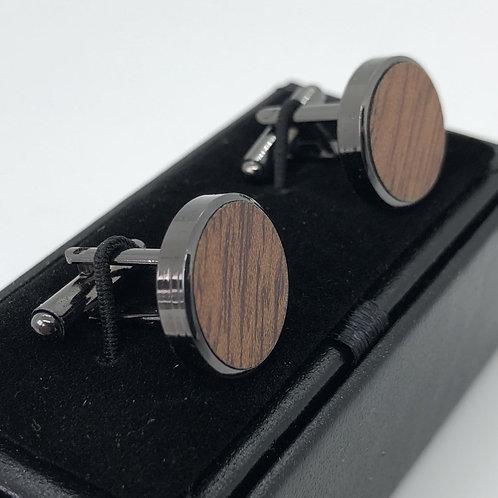 Cufflinks - Dark Wooden Fashion Style