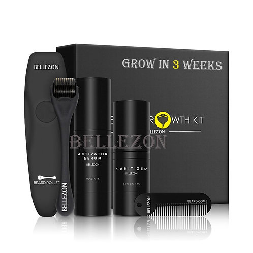 Beard Growth Kit By Bellezon - 4 Pieces