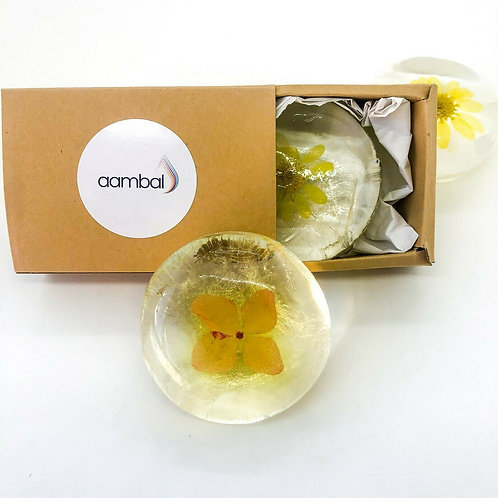 aambal Flower Gift Soap Set Of 2 x 100g soap
