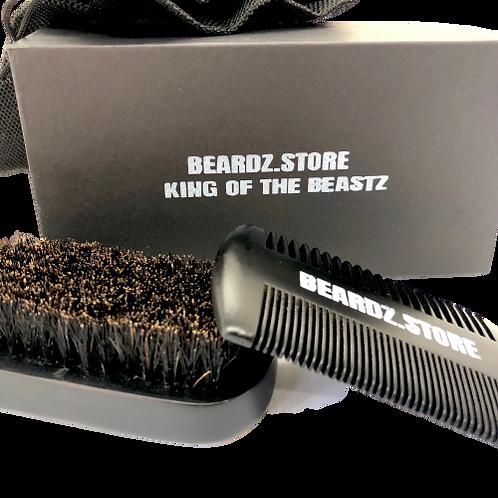 Beardz.Store Beard Brush & Comb Kit