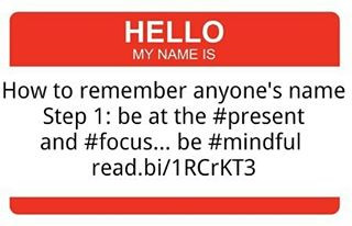 Mindfulness and remembering other's names