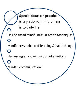 Special focus on practical integration of mindfulness by Dr. Walsh