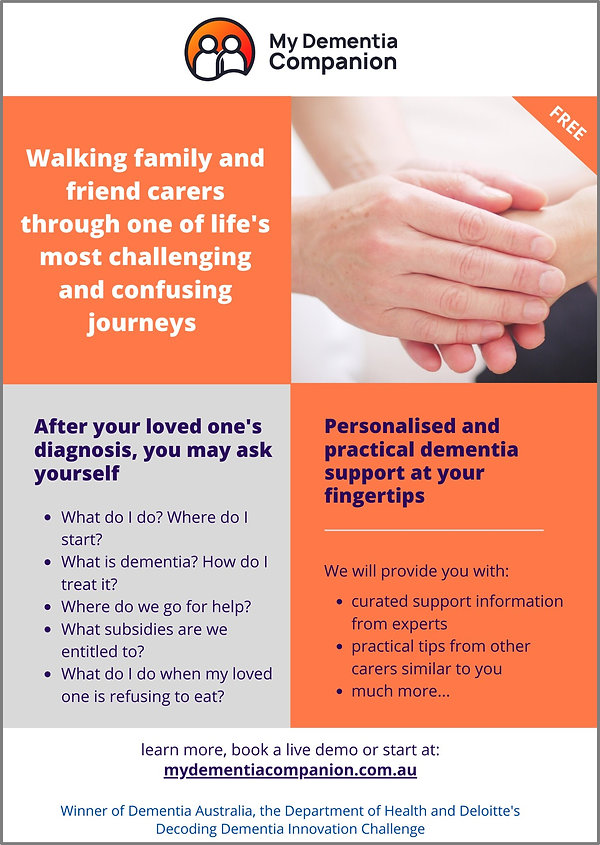 My Dementia Companion Flyer Clients Fami