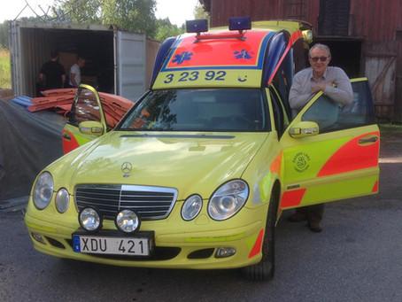 Ambulans på väg till Burkina Faso