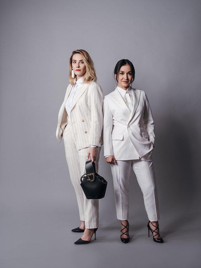 womens custom tuxedo white satin pinstri