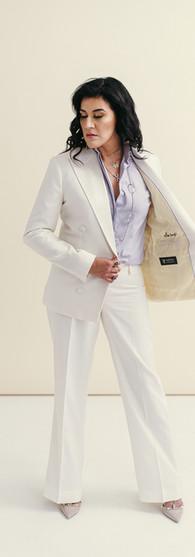 X Creative White Tuxedo + Lavender Dress Shirt $3,408